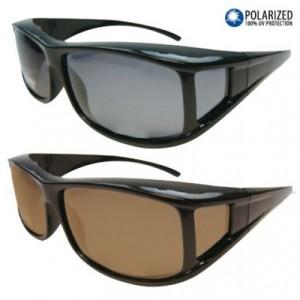 Overzet zonnebril zwart bruin