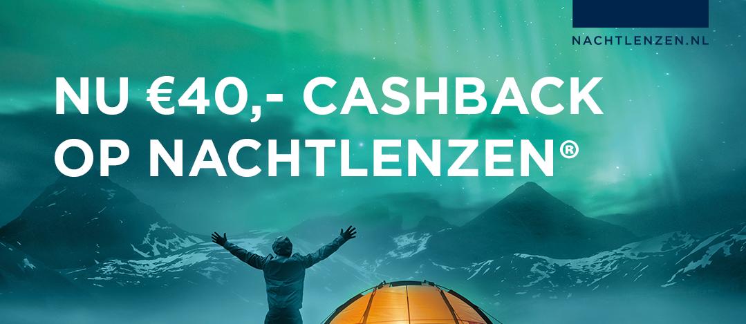 Nu €40,- Cashback op je nachtlenzen 👏